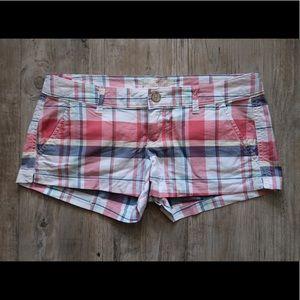 Hollister plaid shorts